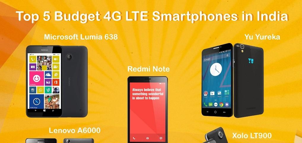 Top 5 Budget 4G LTE Smartphones in India
