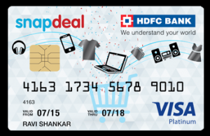 Get Rs 500 Cashback On Making Payment Through Snapdeal HDFC Bank Credit Card