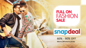 Snapdeal Offer: Upto 90% OFF On Fashion, Electronics & more