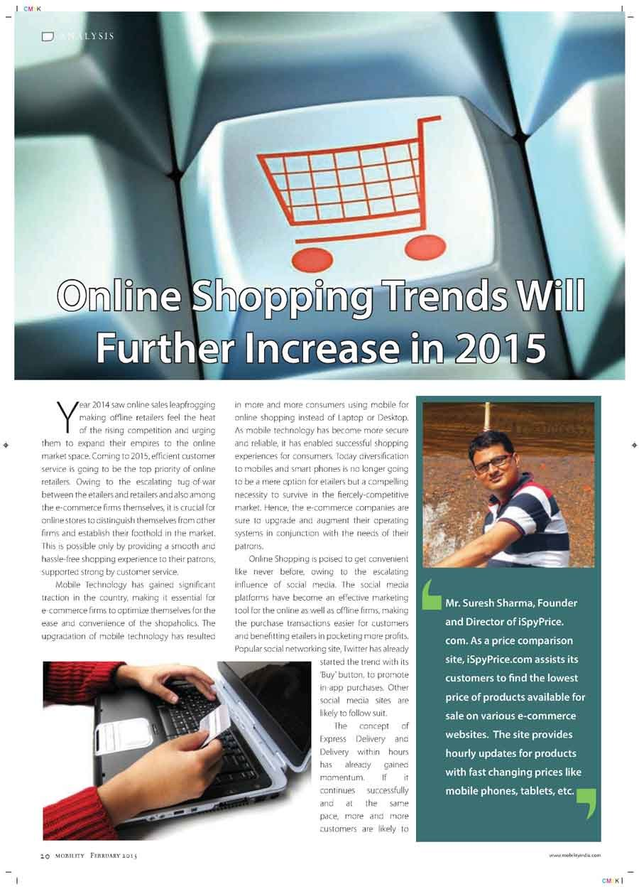 Online Shopping Trends Will Further Increase in 2015