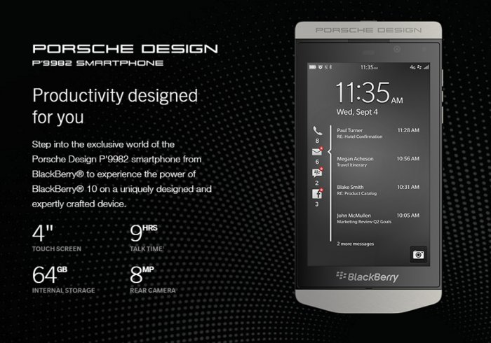 BlackBerry Porsche Design P9982: Premium Material for Premium Look