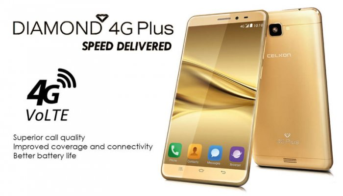 Celkon Diamond 4G Plus: Budget smartphone powered by 4G connectivity