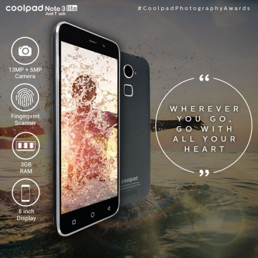 Coolpad Note 3 Lite: Another promising smartphone at affordable price