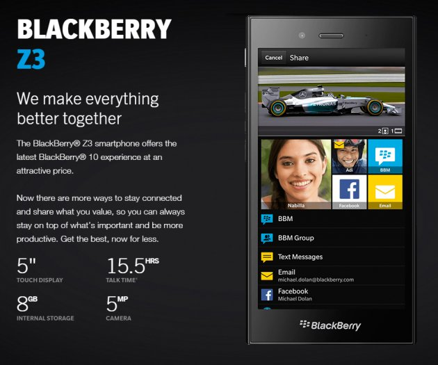Could the Blackberry Z3 Be the Best Entry Level Business Phone?