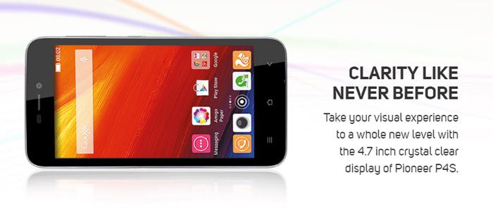 Gionee Pioneer P4s: Android phone with 4.5 inch screen and quad core processor