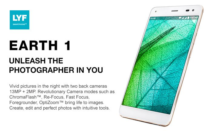 LYF Earth 1: The most sensational smartphone with cutting edge features