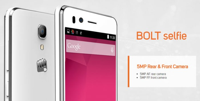 Micromax Bolt Selfie: A phone under Rs. 6,000 that comes with a good front camera