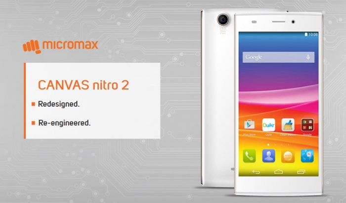 Micromax Canvas Nitro 2:  Octa-core processor Android phone with 5 inch display