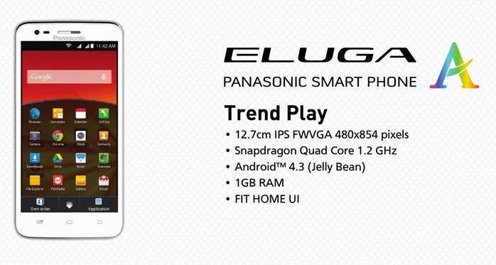 Panasonic Eluga A: Light weight and stylish smart phone with Jelly bean OS