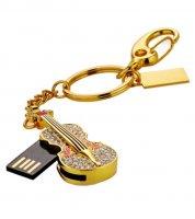 Microware Golden Guitar Shape 16GB Pen Drive