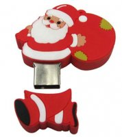 Microware Santa Claus With Gift Shape 4GB Pen Drive