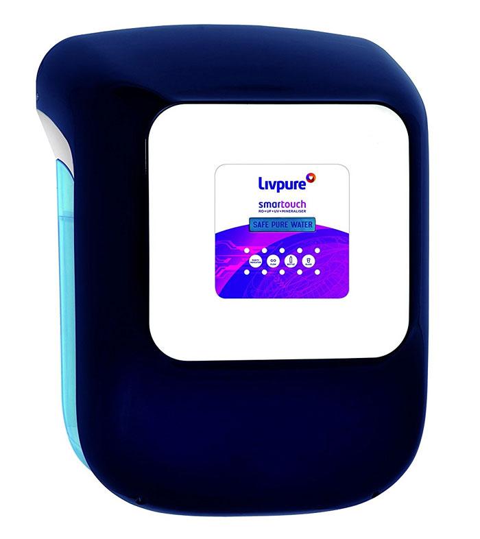 b7e03f81b0 Livpure Smart Touch 8.5L RO + UV + UF Water Purifier Price List in India